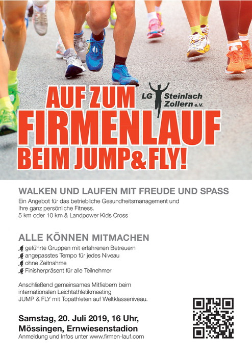 Flyer Firmenlauf red