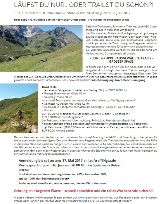 Trailrunningcamp Flyer 700Bild